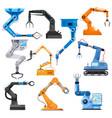 industrial robotic arms robot manipulator vector image