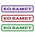 ko samet watermark stamp vector image vector image
