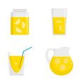lemonade icon set flat style vector image vector image