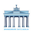 line art brandenburg gate berlin germany vector image vector image