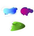 liquid fluid abstract shape bio form amoeba color vector image vector image