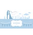 london wedding card vector image vector image