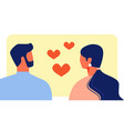 lovers man and woman look at each other vector image vector image