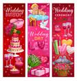 marriage ceremony invitations wedding day symbols vector image vector image