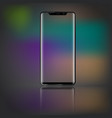 modern smartphone with front view and transparent vector image vector image