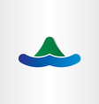 mountain and water island symbol vector image vector image