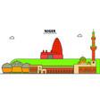 niger line skyline niger vector image vector image