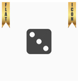 One dices - side with 3 vector image vector image
