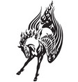 pegasus tribal tattoo vector image vector image