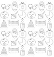 perfect detailed baby icons made in vector image vector image