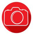 Photo camera icon Flat design style vector image vector image