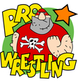 Pro wrestling vector image vector image