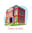 public school elementary education building vector image vector image