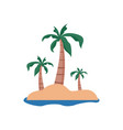 remote beach island summer stuff icon design vector image