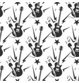 rock music seamless pattern with guitars and vector image