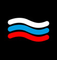 russia flag linear style sign of russian symbol vector image