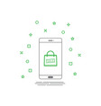 sale bag icon on smartphone screen design template vector image