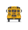 school bus back view vector image vector image