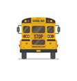 school bus back view vector image