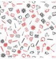 seamless pattern for school things vector image