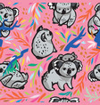 seamless pattern with cute koala bears in vector image vector image