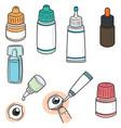 set of eye medicine vector image
