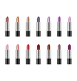 Set of realistic lipstick vector image