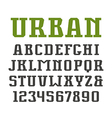 Slab serif font in urban style vector image vector image
