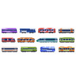 subway passenger trains high speed trains metro vector image