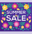 summer sale - modern colorful vector image vector image