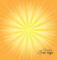 sunny sunshine yellow background with white vector image