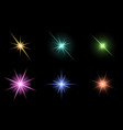 transparent star symbol icon design beautiful of vector image vector image