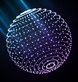 Abstract sphere light vector image