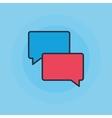 Speech bubbles flat icon vector image