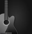 black acoustic guitar vector image