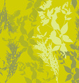 flowers on green background Seamless pattern vector image