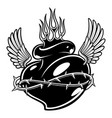 a black and white tattoo heard vector image vector image
