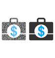 accounting case composition of dollars vector image