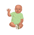 African american baby vector image vector image