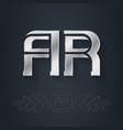 ar - metallic 3d icon or logotype template vector image vector image