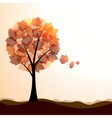 Artistic autumn landscape vector image vector image