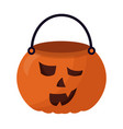 basket halloween pumpkin isolated icon vector image