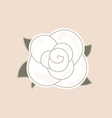 Beautiful vintage rose isolated on pale background vector image vector image