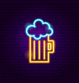 beer mug neon sign vector image