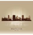 Birmingham England skyline city silhouette vector image vector image