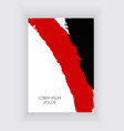 black and red design templates for brochures and vector image