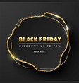 black friday luxury black background with golden vector image vector image