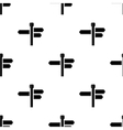Black Signpost Arrows Seamless Pattern vector image vector image