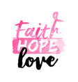 breast cancer awareness pink watercolor typography