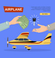 buying airplane online plane sale web banner vector image vector image